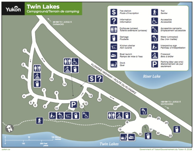 Twin Lakes Campground Map A Guide to Twin Lakes Campground, Yukon